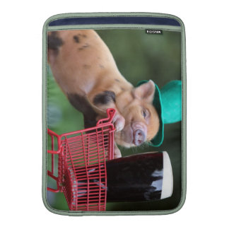Puppy pig shopping cart MacBook air sleeves