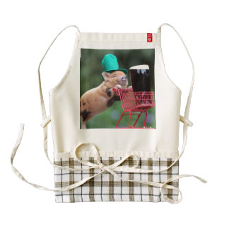 Puppy pig shopping cart zazzle HEART apron
