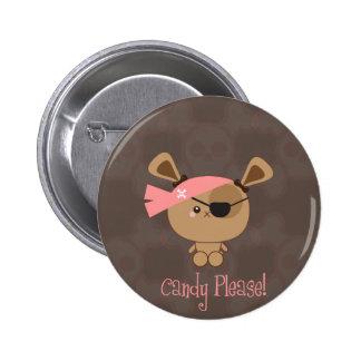 Puppy Pirate Halloween Button