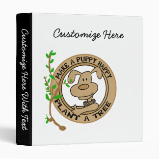 Puppy Plant a Tree T-shirts and Gifts Binder