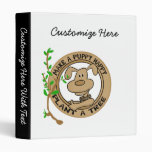Puppy Plant a Tree T-shirts and Gifts Vinyl Binder