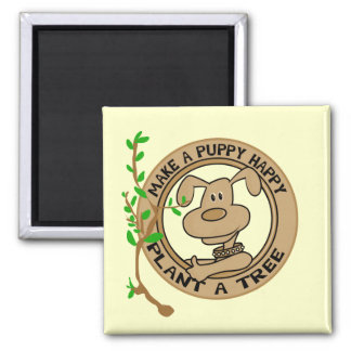 Puppy Plant a Tree Tshirts and Gifts Magnet