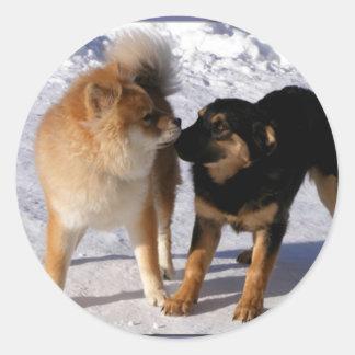 Puppy play Envelope seals Classic Round Sticker