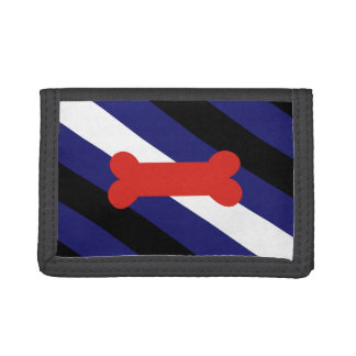 PUPPY PLAY PRIDE DIAGONAL TRIFOLD WALLETS