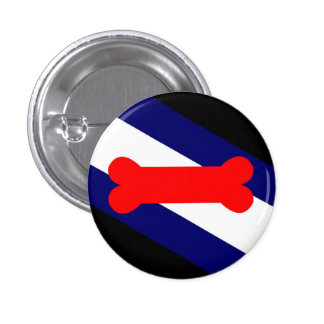 """Puppy Play Pride Flag Small, 1¼"""" Round Button"""