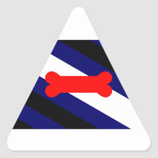 Puppy Play Pride Flag Triangle Stickers (20)