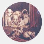 Puppy Play Round Sticker
