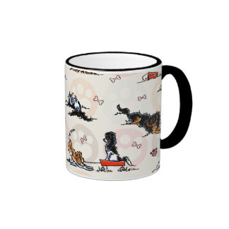 Puppy Playtime In For a Treat Ringer Mug