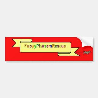 PUPPY PLEASERS RESCUE LOGO STICKER CAR BUMPER STICKER