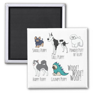 Puppy Poem 2 Inch Square Magnet