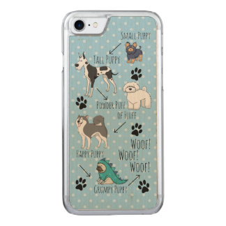 Puppy Poem Carved iPhone 8/7 Case