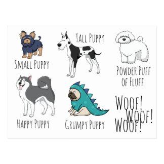 Puppy Poem Postcard