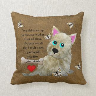 Puppy Poem Throw Pillows