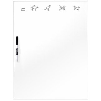 Puppy Potty, Food, and Exercise Tracker Dry Erase Dry-Erase Board