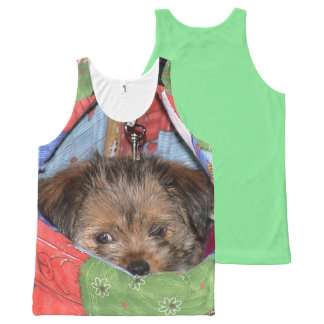 Puppy pouch All-Over-Print tank top