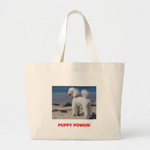 PUPPY POWER! JUMBO TOTE BAG