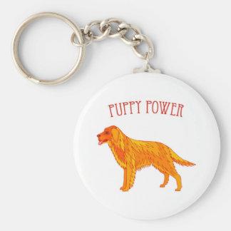 Puppy Power Keychain