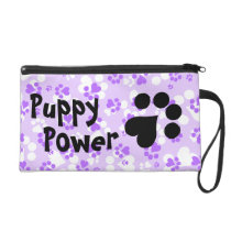 Puppy Power - Paw Print -  Animal lovers Wristlet Purse