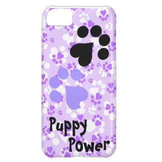Puppy Power - Paw Prints -  Animal lovers Cover For iPhone 5C