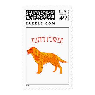 Puppy Power Postage Stamp