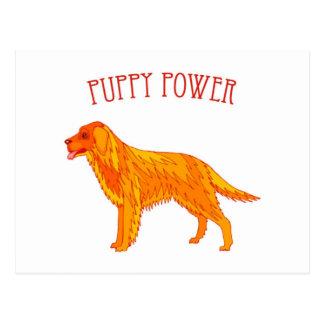 Puppy Power Postcard