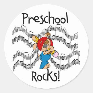 Puppy Preschool Rocks Tshirts and Gifts Classic Round Sticker