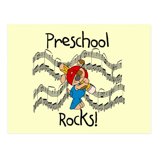 Puppy Preschool Rocks Tshirts and Gifts Postcard