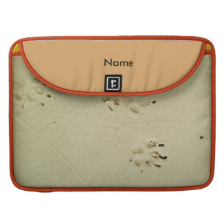Puppy prints in the sand sleeve for MacBook pro