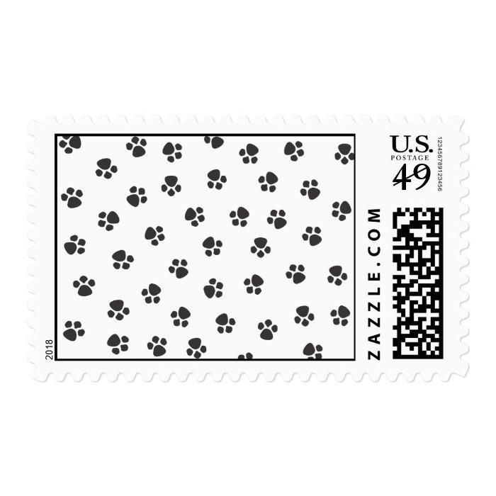 Puppy Prints Postage Stamp
