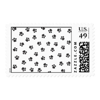 Puppy Prints Postage Stamp