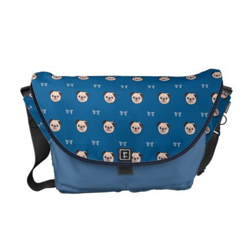 Puppy pug patterns courier bags