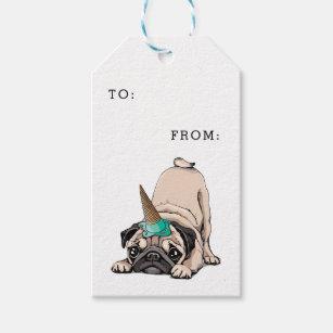 Puppy Pugs | Aspiring Unicorn Pattern Gift Tags