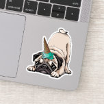 Puppy Pugs | Aspiring Unicorn Pattern Sticker