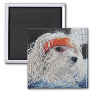 Puppy Punk 2 Inch Square Magnet