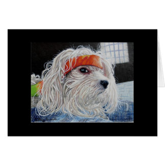 Puppy Punk Stationery Note Card
