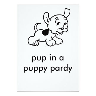 puppy, pup in a puppy pardy card
