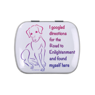 Puppy Road to Enlightenment Jelly Belly Candy Tin