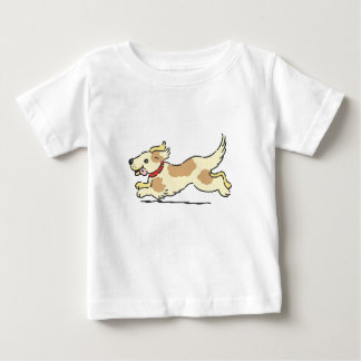 Puppy running with toungue out baby T-Shirt