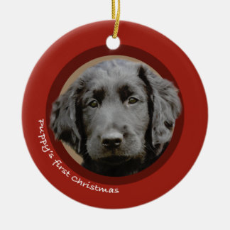 Puppy s First Christmas Flat-Coated Retriever Ornaments