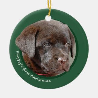 Puppy s First Christmas Labrador Retriever Christmas Ornament