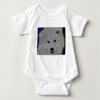 Puppy Samoyed Baby Bodysuit