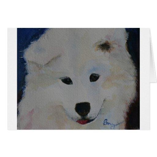 Puppy Samoyed Card