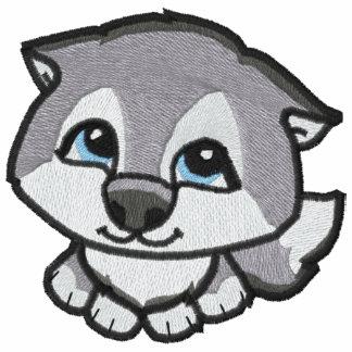 Puppy Siberian Husky Embroidered Shirt