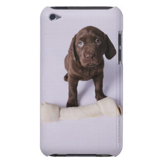 Puppy Sitting by a Bone iPod Case-Mate Cases