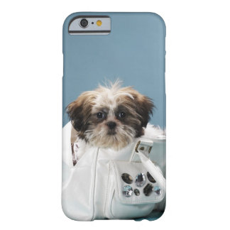 Puppy sitting in handbag barely there iPhone 6 case