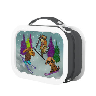 Puppy Ski Vacation Lunchboxes