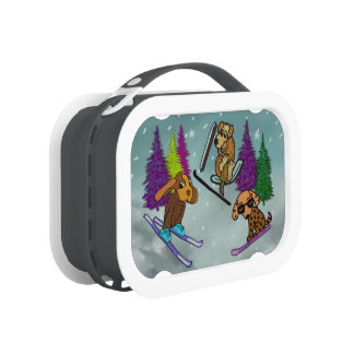 Puppy Ski Vacation Lunch Boxes