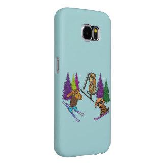 Puppy Ski Vacation Samsung Galaxy S6 Cases