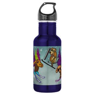 Puppy Ski Vacation Water Bottle