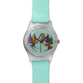 Puppy Ski Vacation Wristwatch